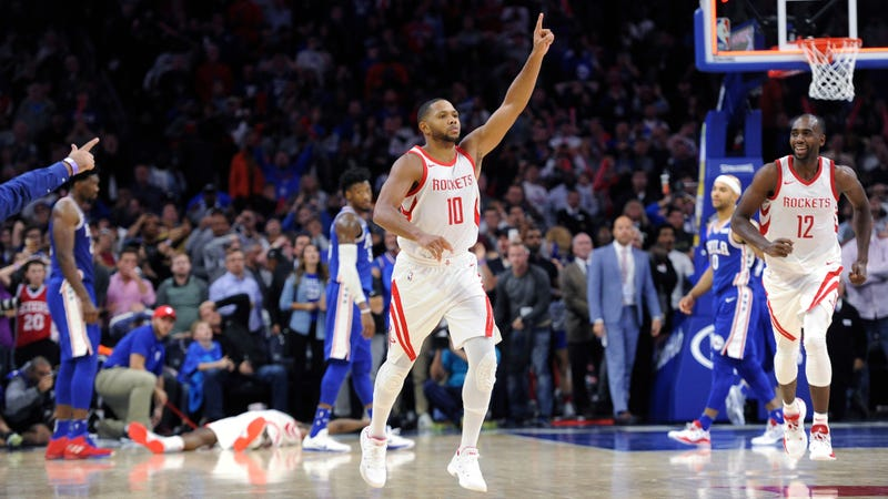 Eric Gordon drains buzzer-beater to lead Rockets past 76ers