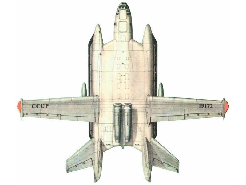 Illustration for article titled The Soviet VTOL Ekranoplan Bomber Designed by an Italian Communist