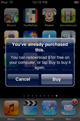 Illustration for article titled Rumor: iPhone 3.0 To Stop Allowing You to Re-Download Apps For Free