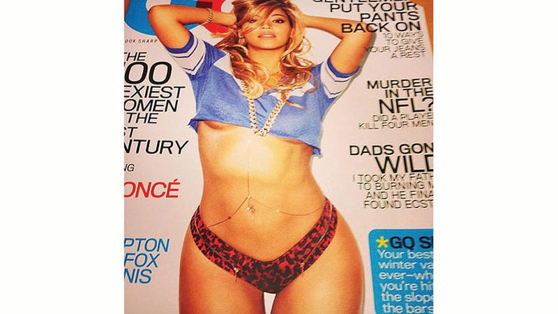 Illustration for article titled Queen Bey's Underboob Scores the Cover of Gentlemen's Quarterly