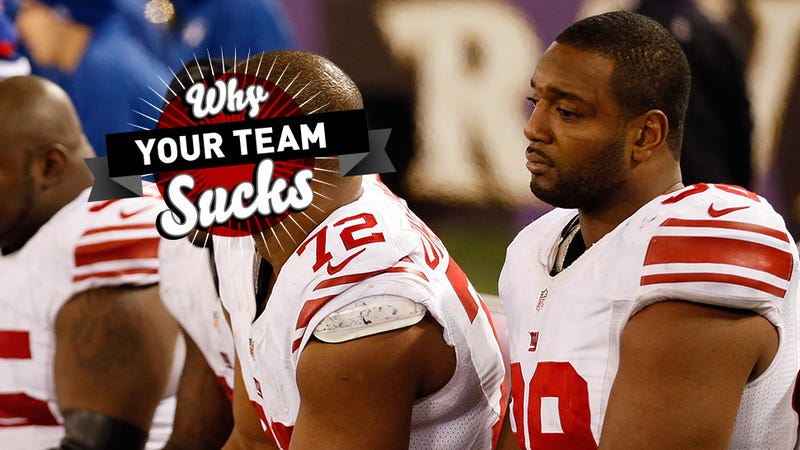 Illustration for article titled Why Your Team Sucks 2013: New York Giants