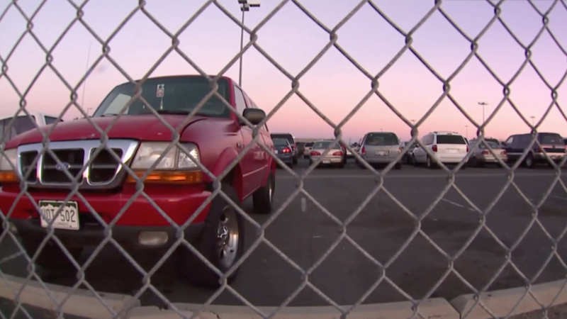 An airport parking lot captured by Fox 31.