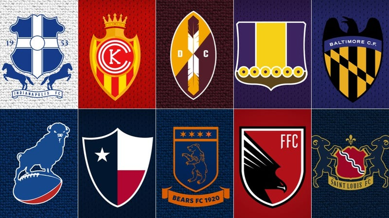 Illustration for article titled NFL Logos As European Soccer Badges