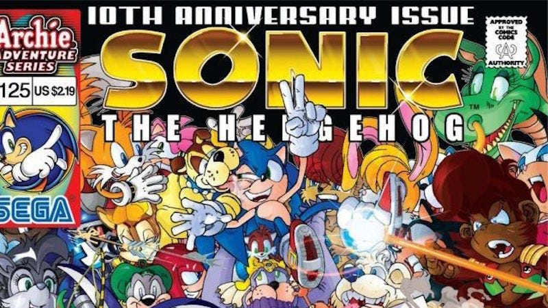 Saying farewell to three decades of weird sonic the hedgehog comics remember that time sonic cried because changes to the timeline caused his children to never be born he had previously been king of the planet altavistaventures Images
