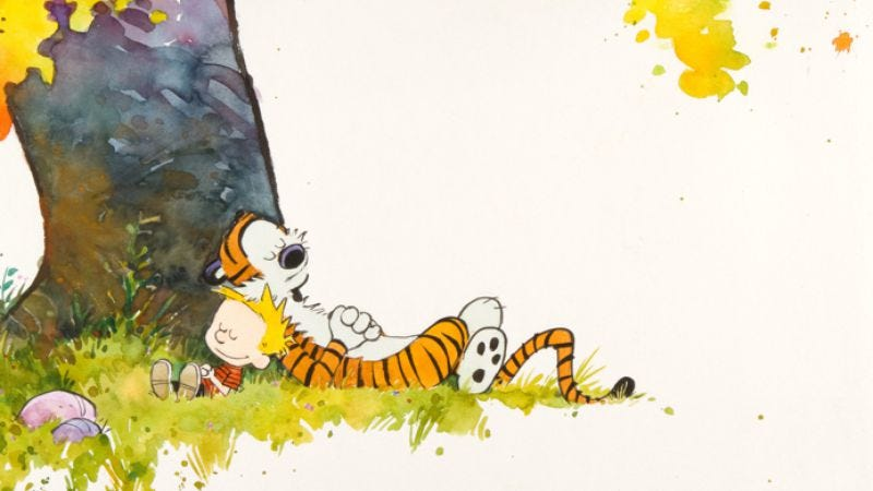 Illustration for article titled This original Calvin And Hobbes artwork could be yours if you have a lot of money