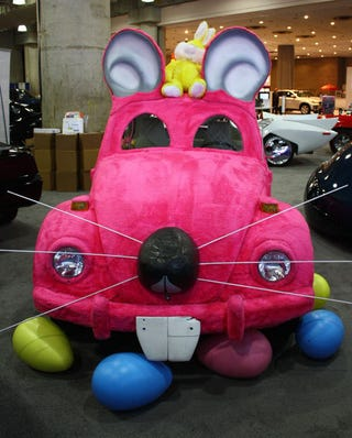 Illustration for article titled Furry VW Beetle Easter Bunny Will Haunt Your Dreams