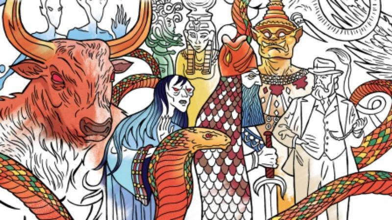 Cover detail of American Gods: The Official Coloring Book