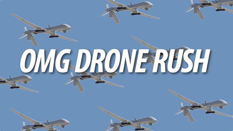 Illustration for article titled America Breaks Record for Flying Most Killer Drones at the Same Time