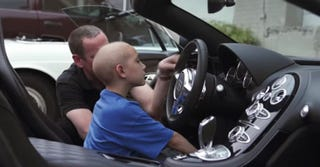 Illustration for article titled Dealership Gives Boy With Leukemia The Ride Of A Lifetime In A Bugatti