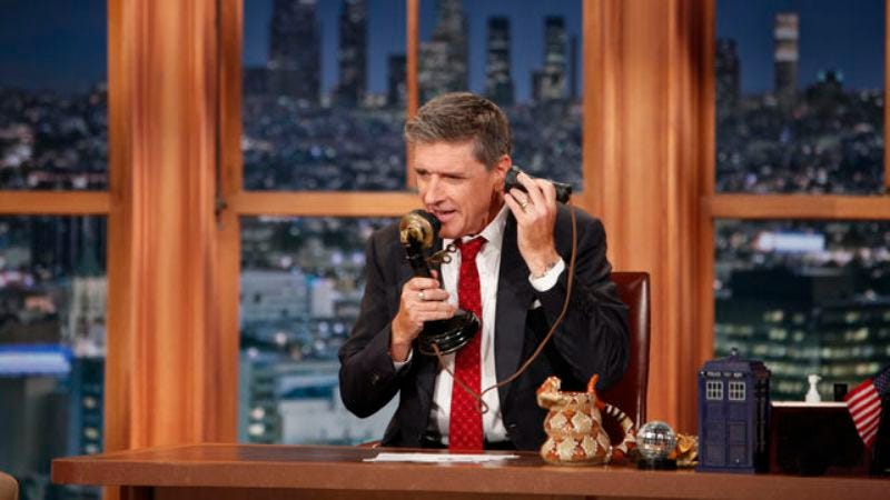 Illustration for article titled Craig Ferguson might be going from The Late Late Show to a slightly earlier show