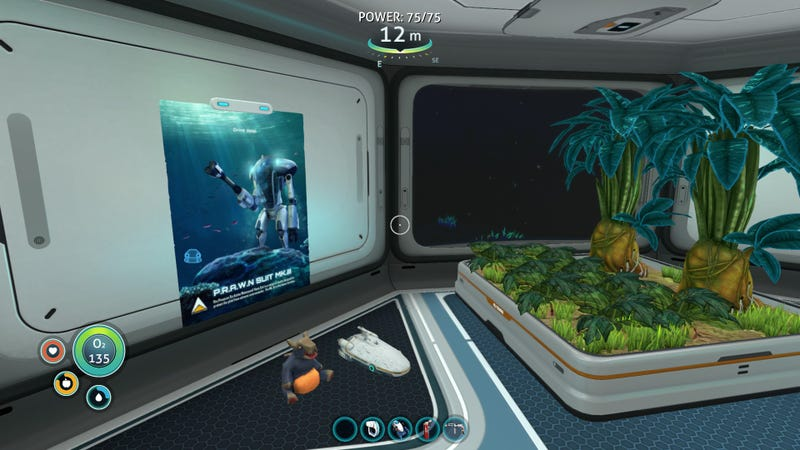 My tiny Subnautica base. I probably shouldn't leave the toys on the floor, but I don't have any tables.