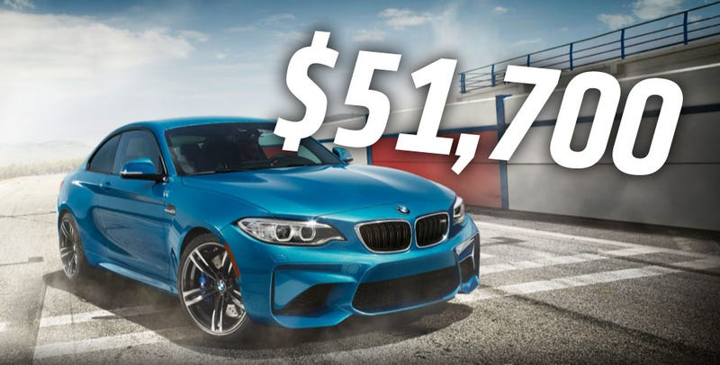 Illustration for article titled The New 2016 BMW M2 Will Cost $51,700
