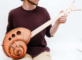 Illustration for article titled The Snail Guitar: For Slow Jams Only