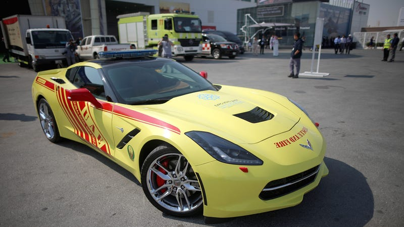 Illustration for article titled Obviously, Dubai fire fighters need a Corvette Stingray