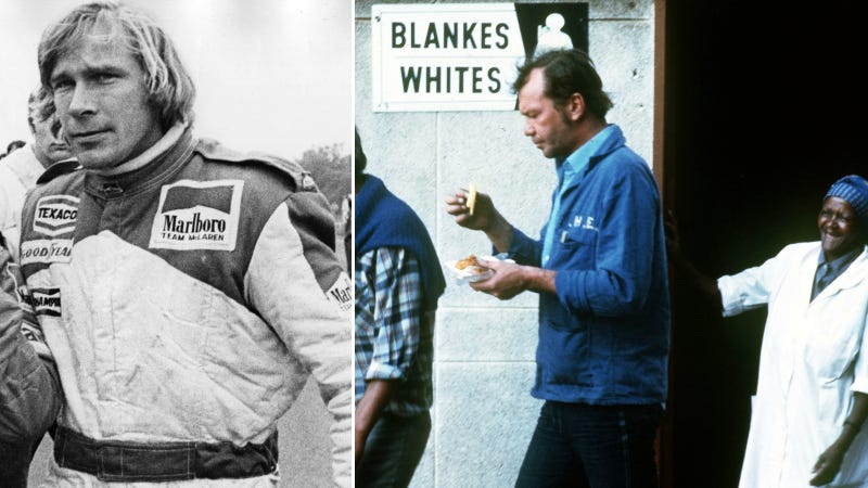 Illustration for article titled The James Hunt You Don't See In RUSH Was An Anti-Apartheid Crusader