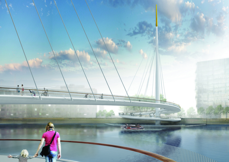 Illustration for article titled London's New Bridge For Pedestrians Solves a Common Problem With Clever Engineering