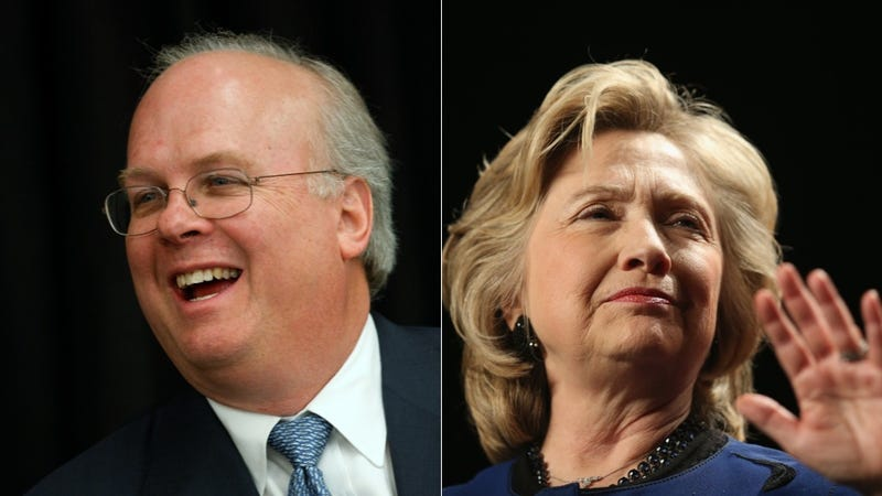 Illustration for article titled Karl Rove Helpfully Diagnoses Hillary Clinton With Brain Damage