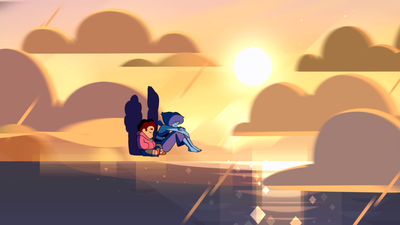 Steven and Lapis Lazuli, feeling together.