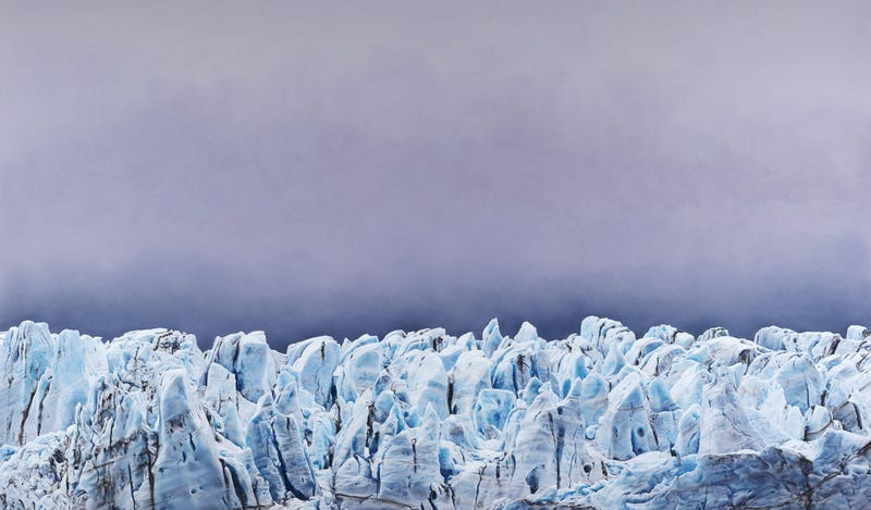 Risting Glacier, South Georgia no.1, 2016. Yes, this is a drawing. Image: Zaria Forman