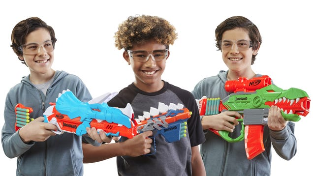 Be Prepared For a Real-Life Jurassic Park Escape With Nerf s New Line of Dino Blasters