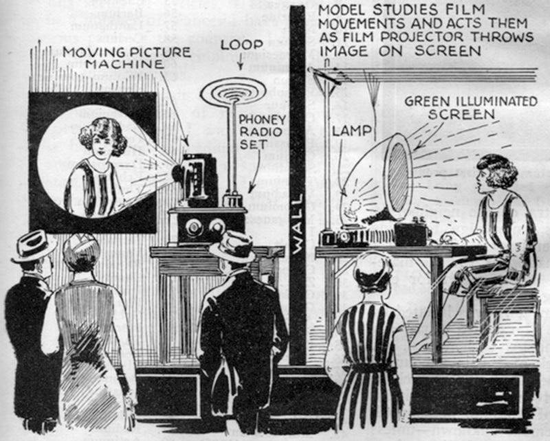 Illustration for article titled In the 1920s, Shoppers Got Fooled By Fake Televisions