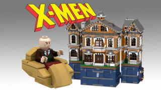 Illustration for article titled Please let this LEGO X-Men Mansion playset become a reality