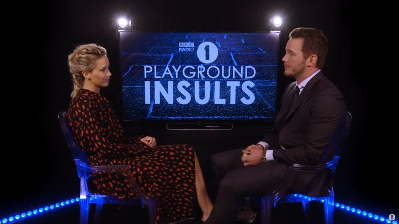 """""""Why did they call it Joy?"""": Chris Pratt and Jennifer Lawrence roast each other"""