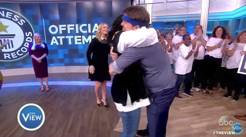 A hug for Whoopi, but not for Meghan :(