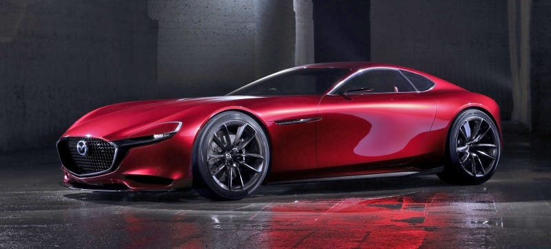 Illustration for article titled The Mazda RX-Vision Is Gorgeous Because It's Inspired By Vintage Ferraris
