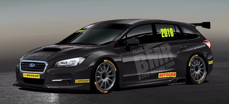 Illustration for article titled Subaru Puts A Glorious Wagon Back In The British Touring Car Championship