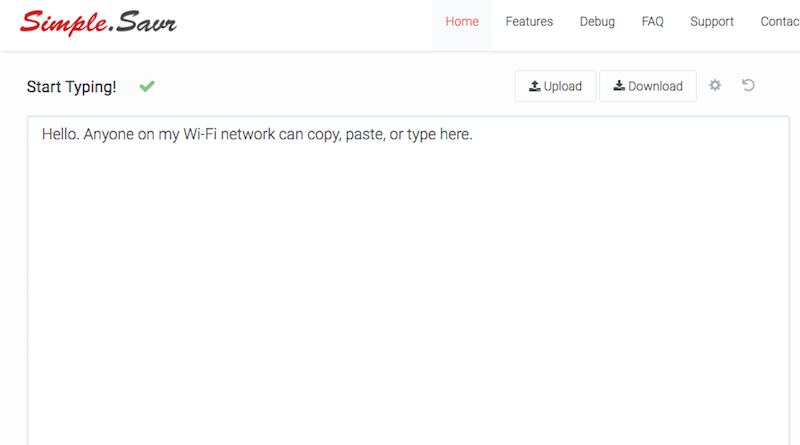 Illustration for article titled Simple.Savr Makes It Incredibly Easy to Share Files on the Same WiFi Network