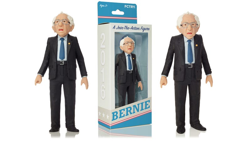 Illustration for article titled The First Bernie Sanders Action Figure Has More Realistic Hair Than Trump