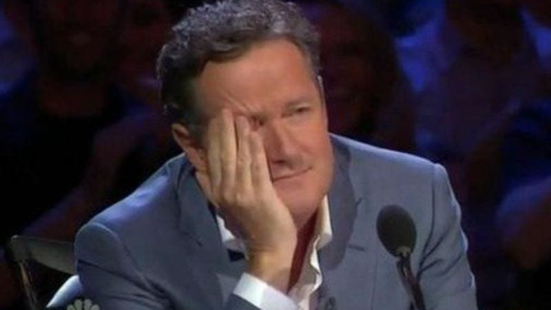 Illustration for article titled Piers Morgan is leaving America's Got Talent for the good of America