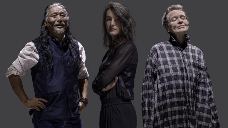 Tenzin Cheogyal (left), Jesse Paris Smith, and Laurie Anderson