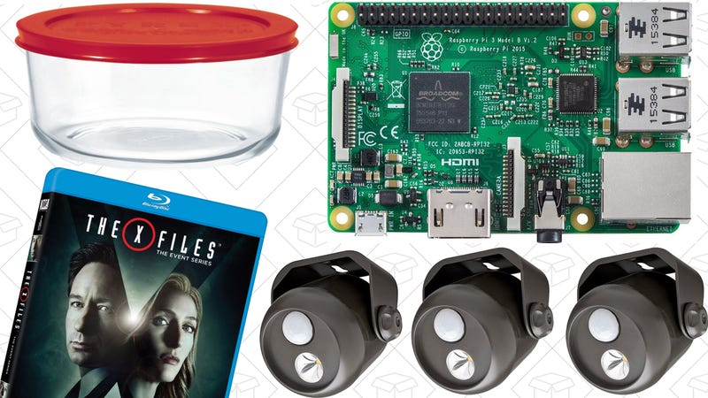 Illustration for article titled Today's Best Deals: 75% off Any Movie Rental, Raspberry Pi, Pyrex Dishes