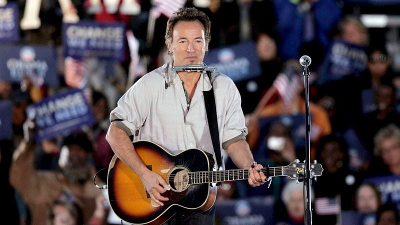 Illustration for article titled Bruce Springsteen Accidentally Plays 'Big Government's Stealin' Our Livelihood' At Obama Rally