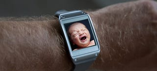 Illustration for article titled Samsung Galaxy S5 Is a Baby Monitor That Reports to Your Smartwatch