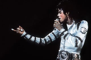 Michael Jackson performing at the Berlin Reichstag June 19, 1988AFP/Getty Images