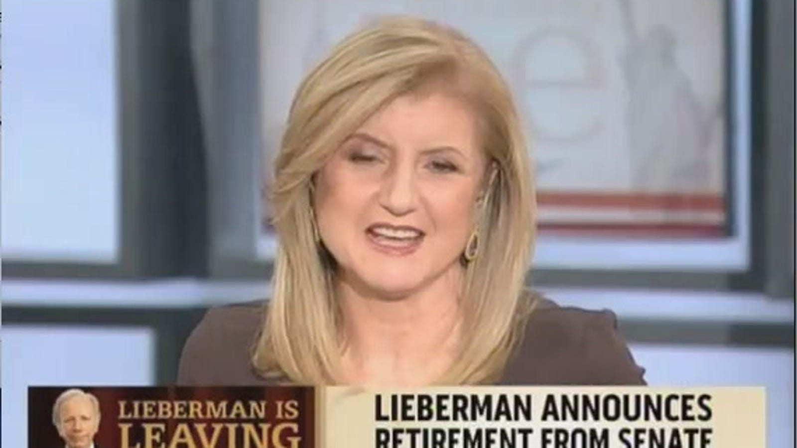 Arianna Huffington Is Joe Liebermans Sweetheart