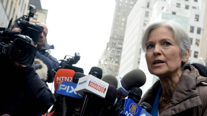 Stein at a press conference outside Trump Tower, December 2016. Photo via AP