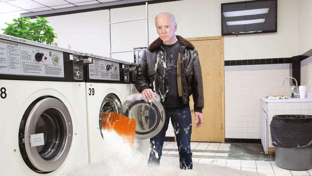 Biden Kicked Out Of Laundromat After Shag Rug Floods Washing Machine