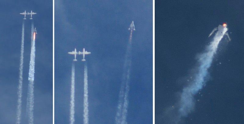 Illustration for article titled Se estrella la nave SpaceShipTwo de Virgin Galactic, muere un piloto