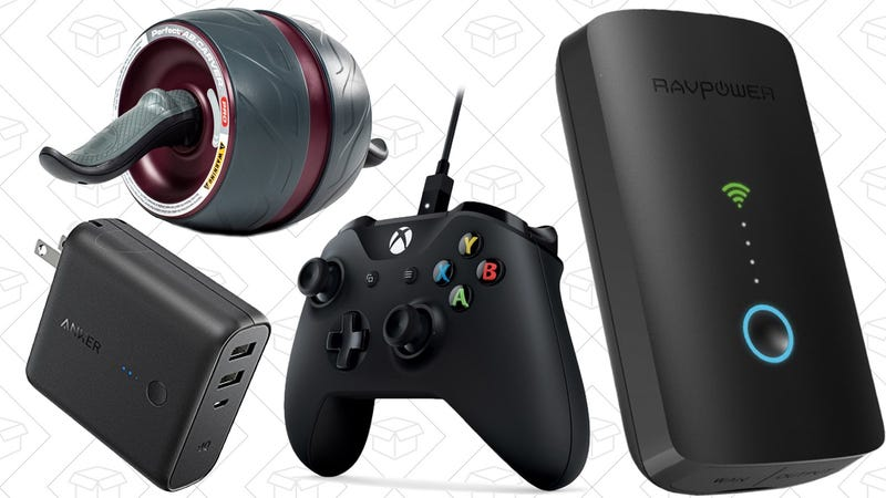 Illustration for article titled Today's Best Deals: Anker PowerCore, Fitness Gear, Travel Router, and More