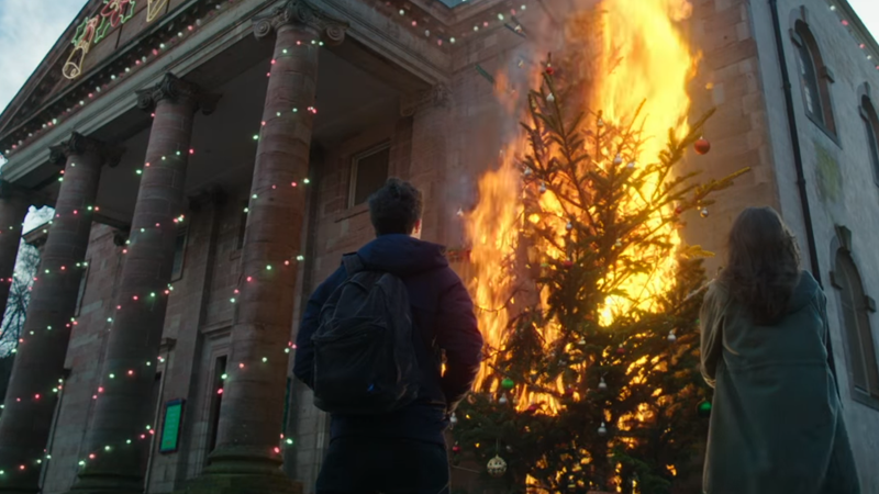 Well, that's one way to light up a Christmas tree.