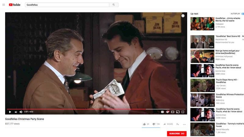 Illustration for article titled Historians Suggest 'Goodfellas' YouTube Clips May Be Fragments Of Larger Work