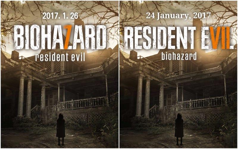 Illustration for article titled Resident Evil 7's Logo Trick Works Across the World