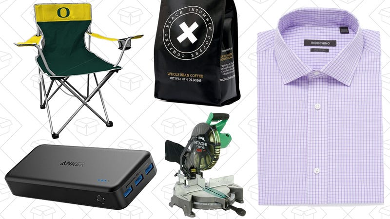 Illustration for article titled Today's Best Deals: Hyper-Caffeinated Coffee, Custom-Fit Shirts, NCAA Tailgating Chairs, and More