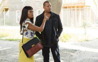 Cookie (Taraji P. Henson) and Lucious (Terrence Howard) got to rescue Hakeem five minutes after he gets snatched by kidnappers. Slow down, Empire!Fox