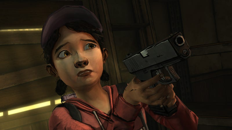 Illustration for article titled Clementine Holding a Gun Spells More Trouble for The Walking Dead
