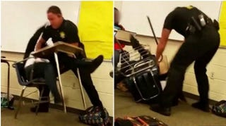 Former Police Officer Ben Fields in an incident with a Spring Valley High school student after she refused to surrender her cellphone. Today-show screenshot